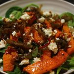 Roast Butternut Squash Salad with Feta Cheese.