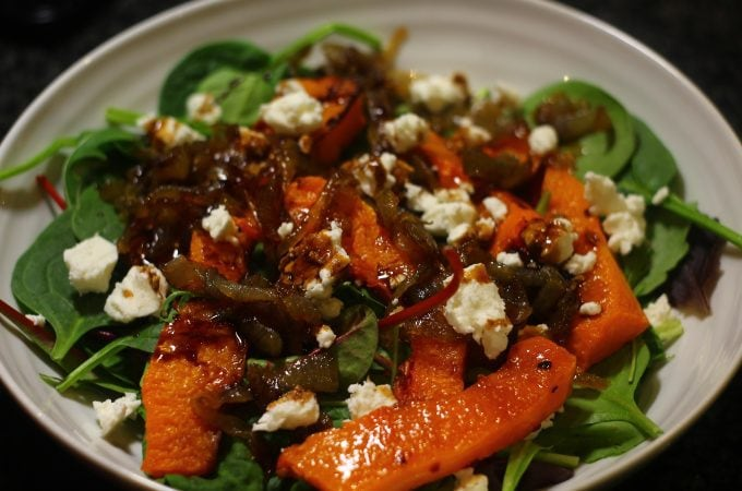 Roast Butternut Squash Winter Salad.