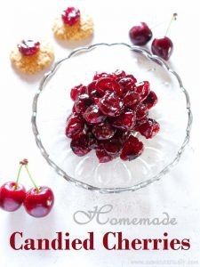 Homemade Candied cherries
