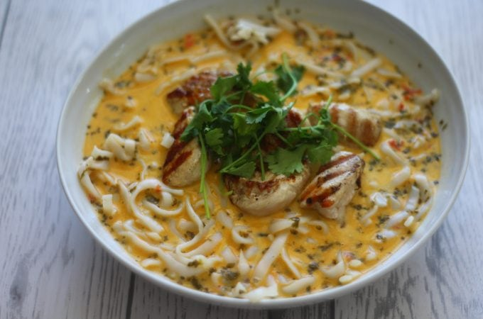 Spiced Creamy Thai Coconut Chicken Soup