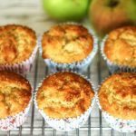 buttermilk and stewed apple muffins