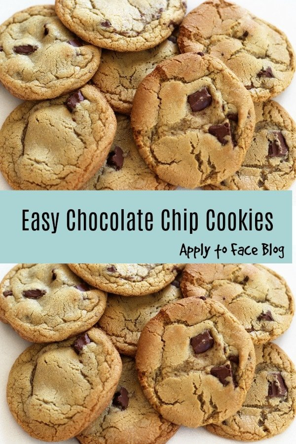 easy chocolate chip cookies pin