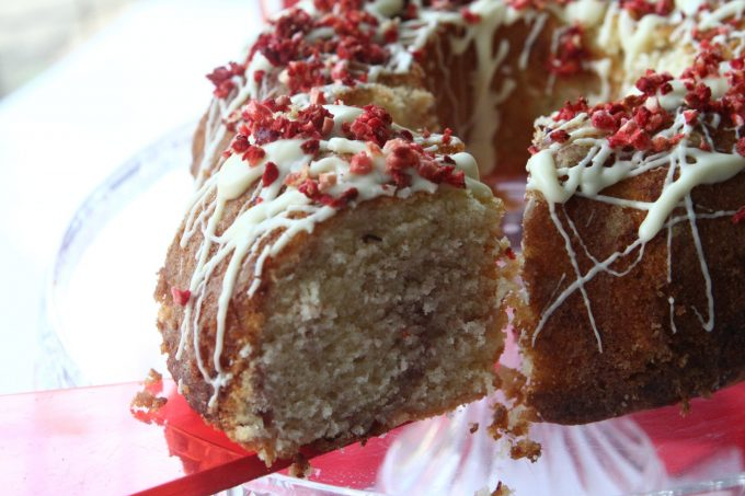 White Chocolate and Strawberry Bundt Cake
