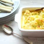 Cauliflower Cheese in a dish