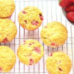 Strawberry Muffins on a wire rack